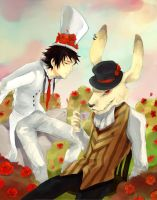 WHITE HATTER and MAD-RABBIT by S-P-N