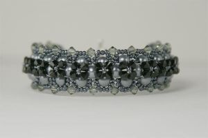 Black and Silver Bracelet by kokito85