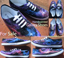 For sale- galaxy shoes! by Kaninano