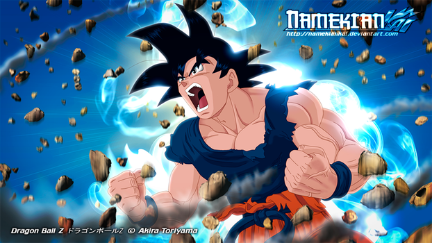 Goku Powers Up by NamekianKAI