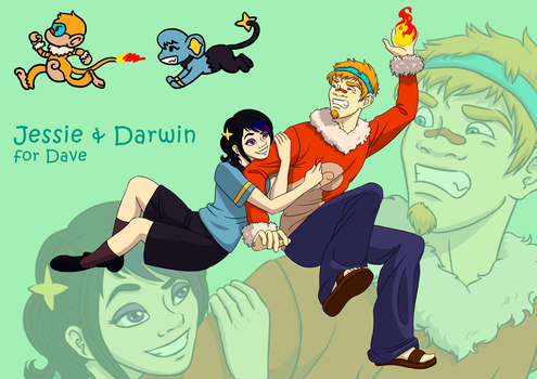 AT: Jessie and Darwin by Jadeitea
