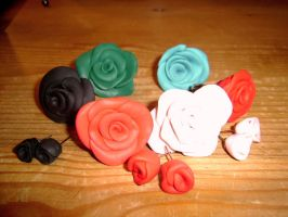 Rose with fimo by enairan