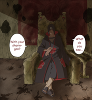 Itachi on his Throne by 3spn4life