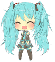 Miku Sketch by Amaepudding