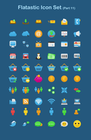 Flatastic Icon Set Part 11 by customicondesign