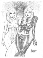 Dagger and White Queen by RyanKinnaird