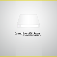 Compact External Disk : Icon by FluidStudios