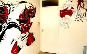 Anime wall paintings 2 by lunaSerene