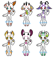 Adoptable Niblets 3 -CLOSED- by Spiral-Teardrop