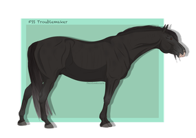 FSS Troublemaker -new ref- by PhantomHorse96