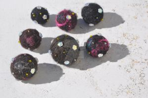 Felted Space Beads 5 by 221BFelterStreet