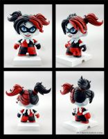 Harley Quinn custom munny by FlyingSciurus