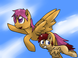 Flying with Momma by ArkyPony