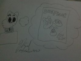 Gumball thinking of a Scrapbook by MigsGarcia5127