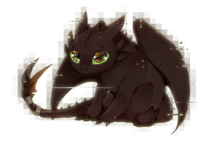 Little Toothless by wikiio