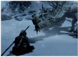 Meditating with Paarthurnax pic 2 by JaneShepard89