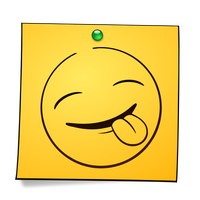 Post-it Smiley: Sticking Tongue by mondspeer
