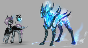 MLP Energy golem pony and mage auction 63 closed by ElkaArt