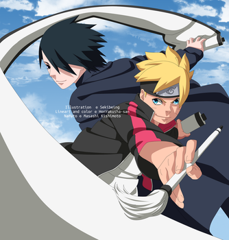 Boruto and Sasuke by HonYakusha-san