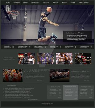 Basketball Layout by adrijusg
