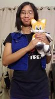 Me and my Sonic Tails plush doll photo 1 by Magic-Kristina-KW