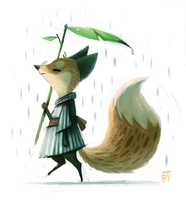 Day 516. Quickie Fox Sketch and Tablet Update :) by Cryptid-Creations