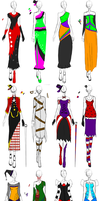 Plethora of Dresses by RanebowStitches
