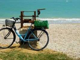 Bike on the sea by Martina31