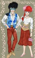 Ranma Boy And Girl Stylish by E-Ocasio