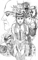 Silk Spectre - Watchmen pencil by Maxahiss
