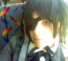 Ciel on the Bus -Cosplay- by p1x3lFlame