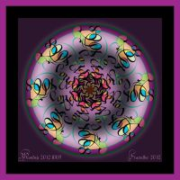 Monday 20121008 Mandala Colored Lineart by FractalBee