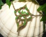 Elven Light - handmade Necklace with Opal by Ganjamira