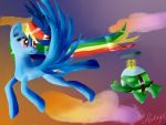 Rainbow Dash and Tank by arempl
