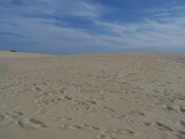 Sand Dune With Blue Sky 2 by Gracies-Stock