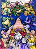 NINE TMNT sketch card puzzle by mdavidct