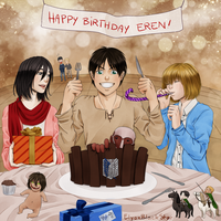 Happy birthday Eren! by ElyonBlackStar
