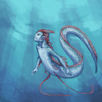 oarfish mermaid by ExplodingBonBons