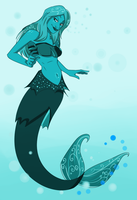Collab: Green Mermaid by Tetris-Fan