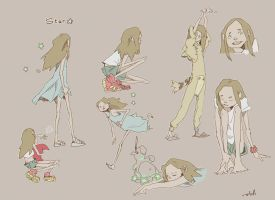 Planche personnage 3 Star by AntoinetteStoll