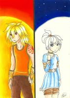 The sun and the moon. by PunkyGothic