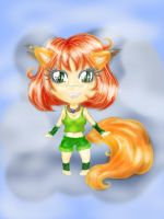AT: Kitsune for Aisha-tyan ^^ by amazonitte