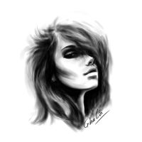 black and white by GhaliaArt