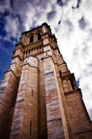 Notre Dame Tower by lordofthestrings86