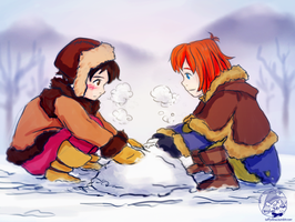 Ronja and Birk by TaffyVib