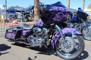 Purple Skulled Bagger by DrivenByChaos