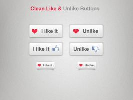 Clean Like - Unlike Button by slayerD1