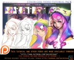 Color girl tutorial pack .promo. by sakimichan