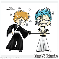 Bleach: Ichigo VS Grimmjow by Goth-Virgy