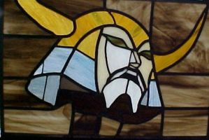 Unicron's Head Stained Glass by AutobotWonko